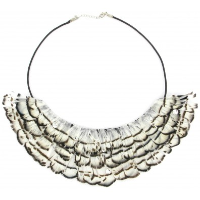 COLLAR DAVANTINO PLUMAS BLANCO